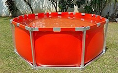 fire fighting open top water tank