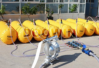 Lifeboat test water filled weight bags system