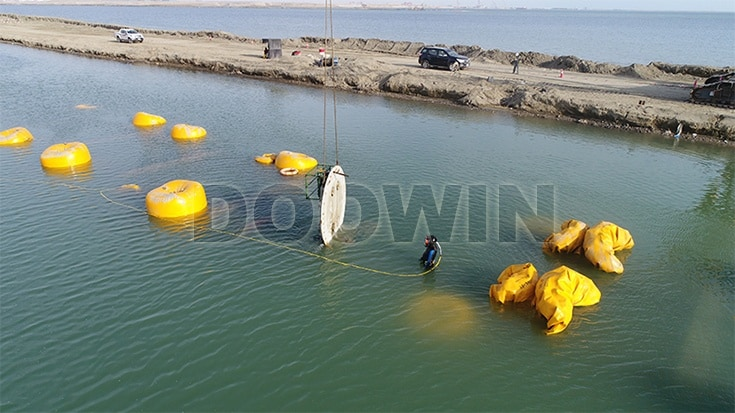 World's First Seabed Flexible HDPE Pipe Double-tube Installation